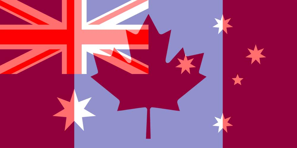 AUD to CAD flags