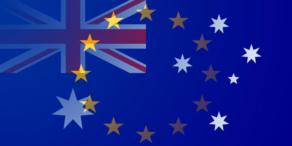 AUD to EUR flags