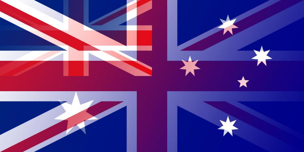 AUD to GBP flags