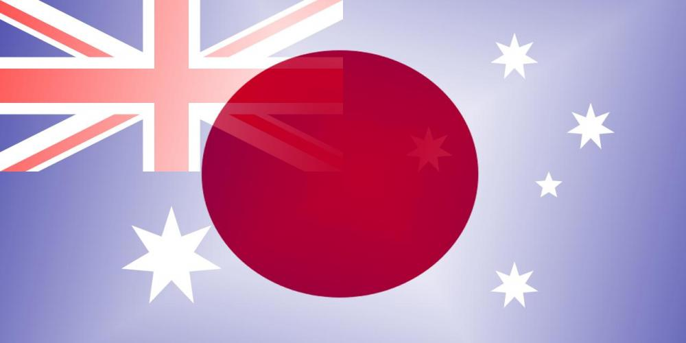AUD to JPY flags