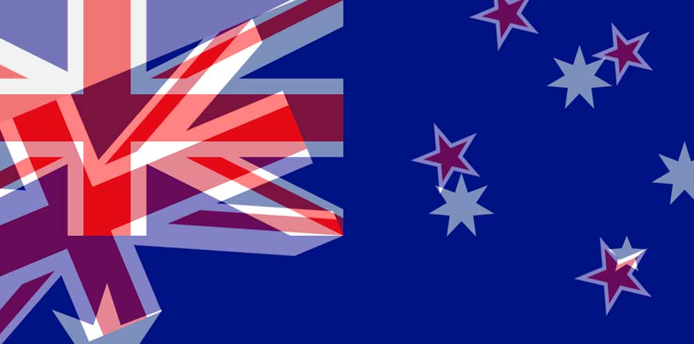 AUD to NZD flags
