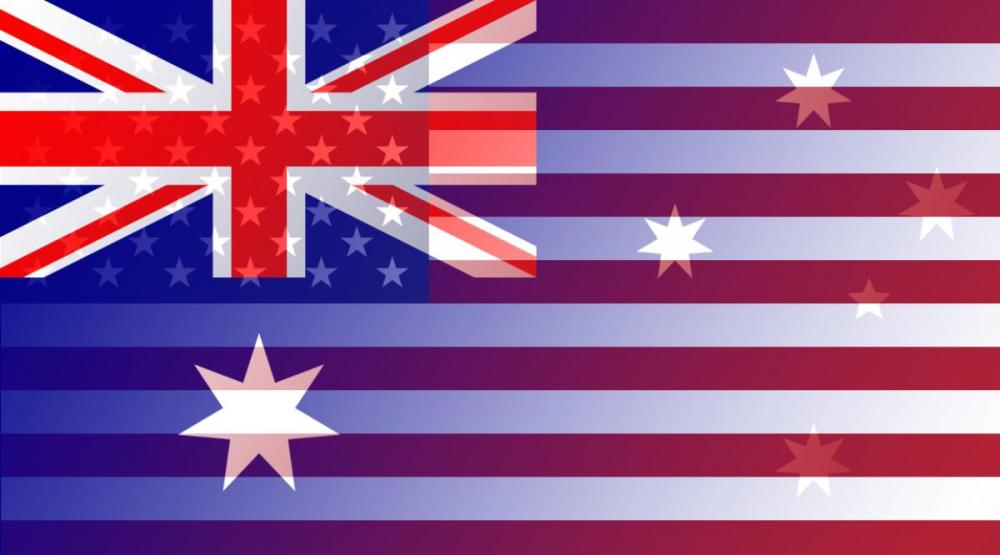 AUD to USD flags