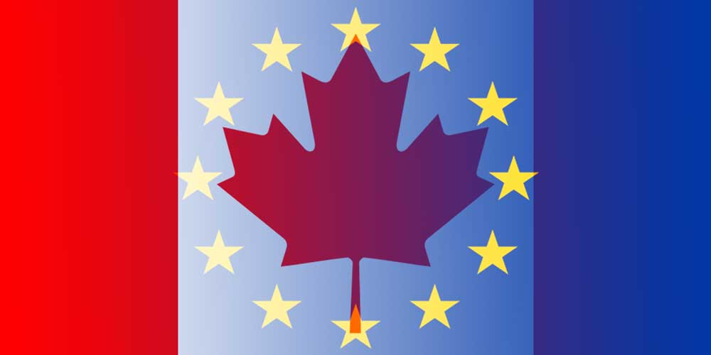 CAD to EUR flags