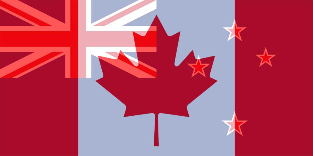 CAD to NZD flags