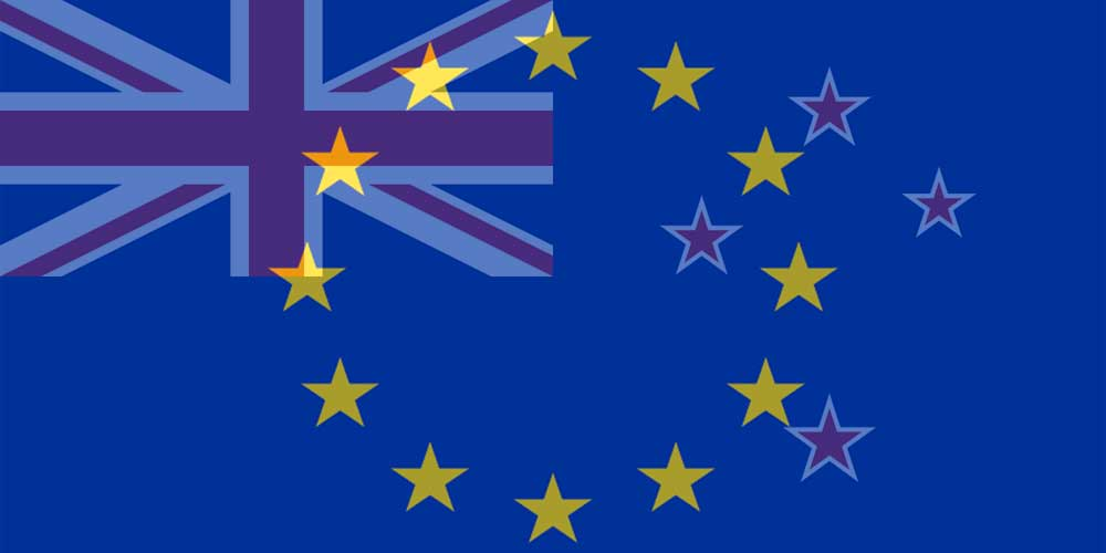 EUR to NZD flags