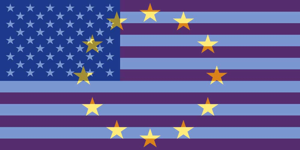 EUR to USD flags