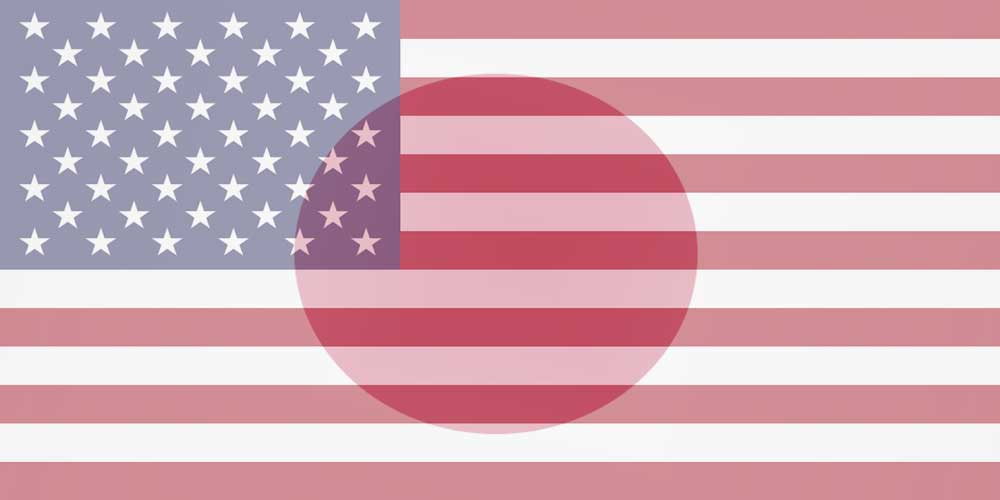 USD to JPY flags