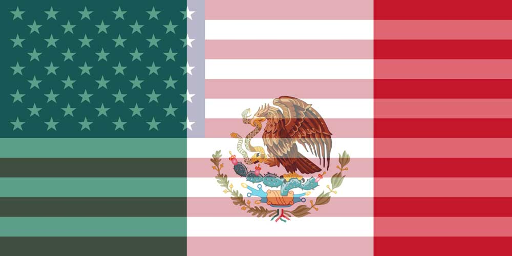 USD to MXN flags